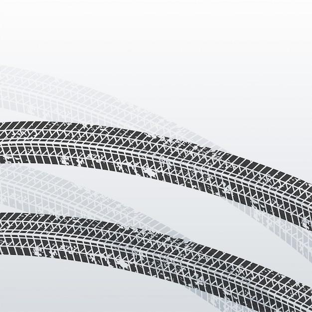 Marcas de impressão de pneu de grunge fundo Vetor grátis