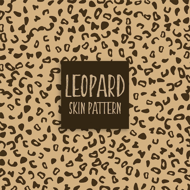 Marcas de impressão de textura de pele de leopardo Vetor grátis