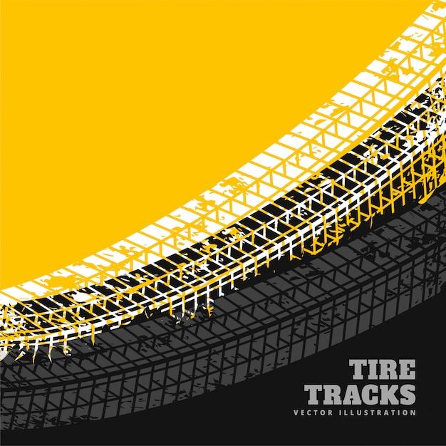 Marcas de pneu de grunge design de plano de fundo Vetor grátis