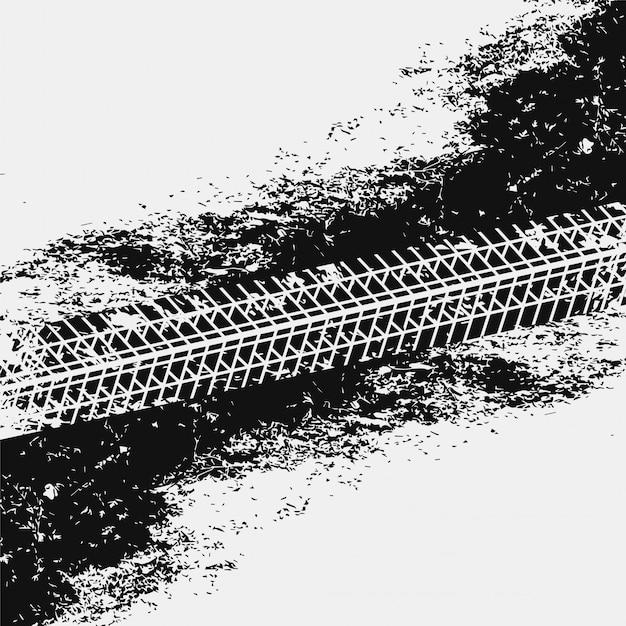 Marcas de pneu sujo grunge abstrata Vetor grátis
