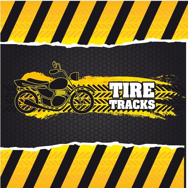 Marcas de pneus Vetor Premium