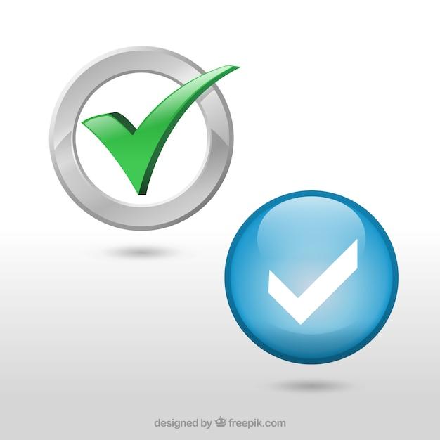 Marcas de verificação embalar Vetor grátis