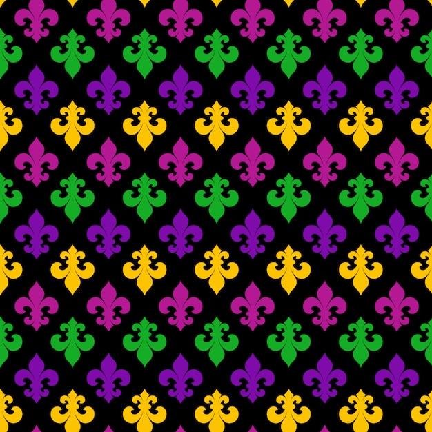Mardi gras carnival seamless pattern Vetor Premium