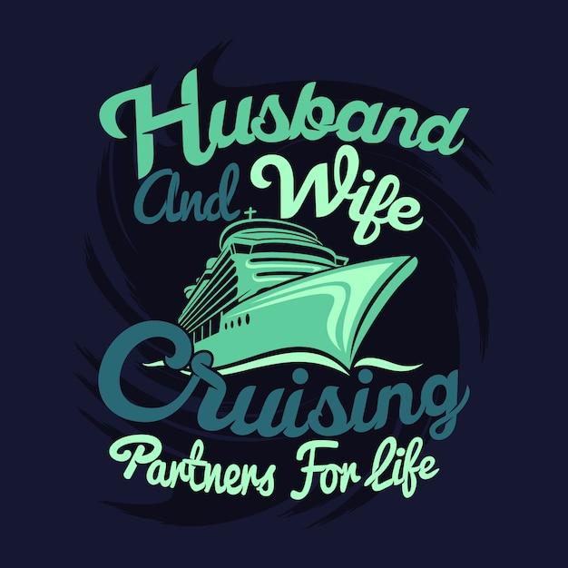 Marido e esposa cruzando parceiros por toda a vida Vetor Premium