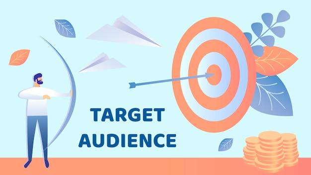 Marketing de alvo, ilustração vetorial de audiência Vetor Premium