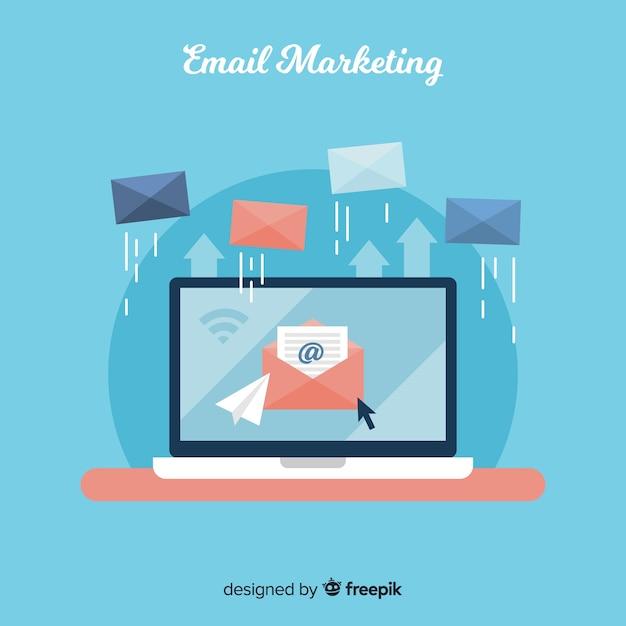 Marketing de email Vetor grátis