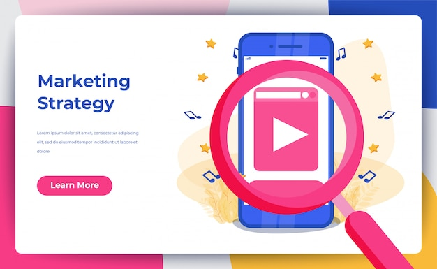 Marketing digital Vetor Premium