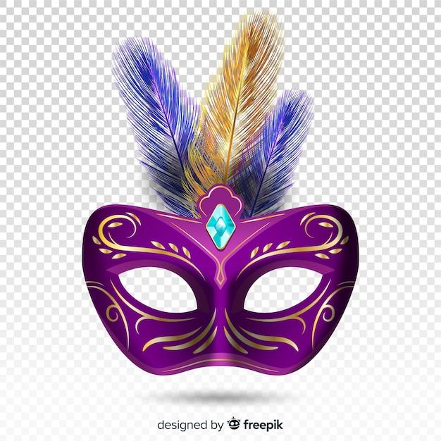 Máscara brasileira realista de carnaval Vetor grátis