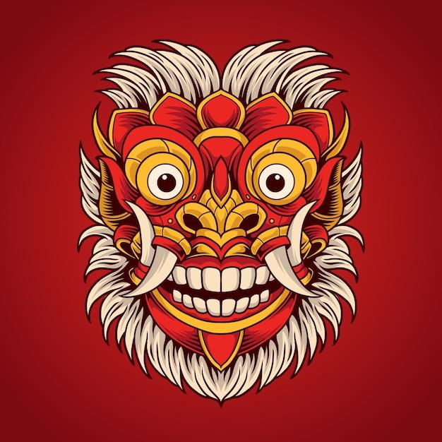 Máscara do diabo Vetor Premium