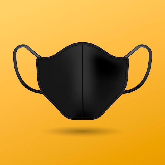Máscara facial de tecido realista Vetor grátis