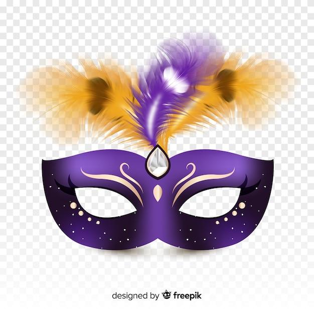 Máscara realista do carnaval brasileiro Vetor grátis