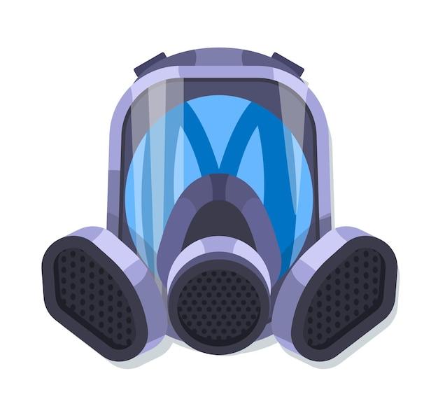 Máscara respiratória de gás ilustrada Vetor Premium