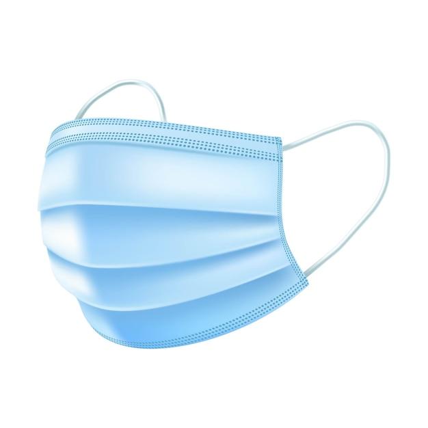Máscara respiratória de segurança, hospital de respiração máscara respiratória médica. Vetor Premium