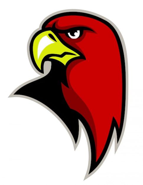 Mascote de cabeça de águia Vetor Premium