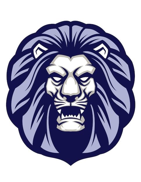 Mascote de cabeça de leão Vetor Premium
