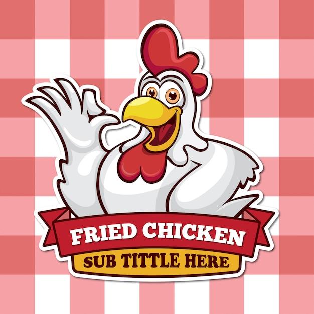Mascote de galinha Vetor Premium