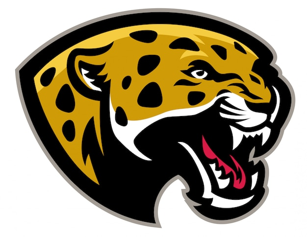 Mascote de leopardo com raiva Vetor Premium