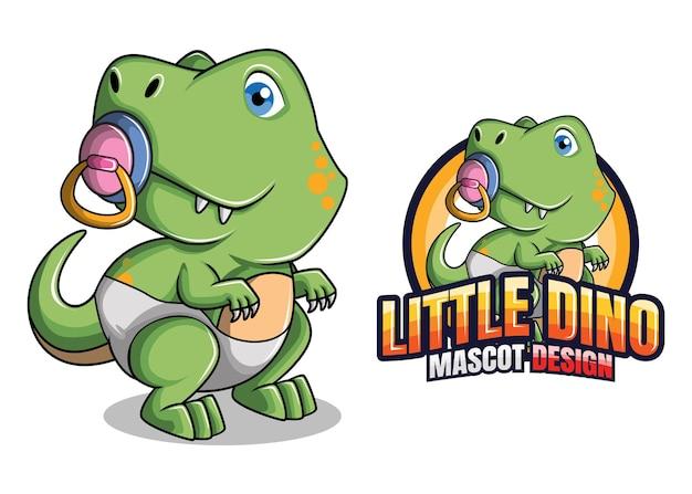 Mascote dinossauro Vetor Premium