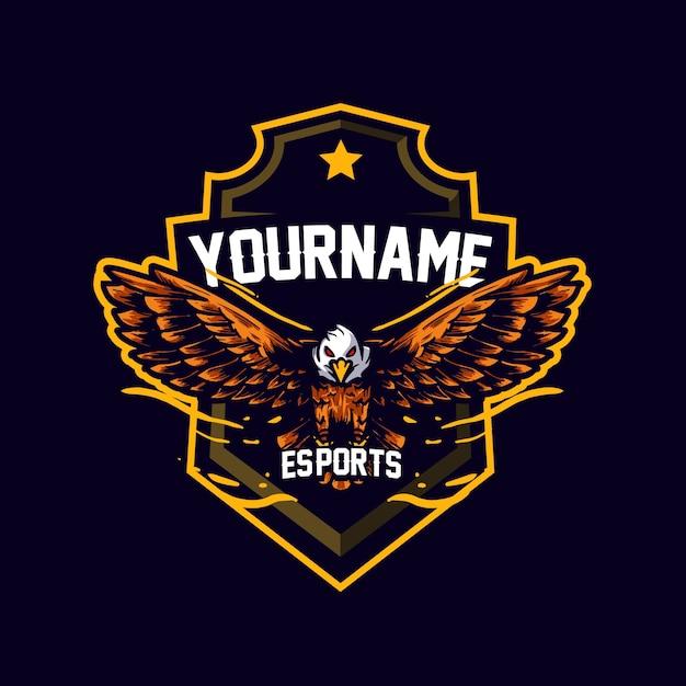 Mascote eagle esports Vetor Premium