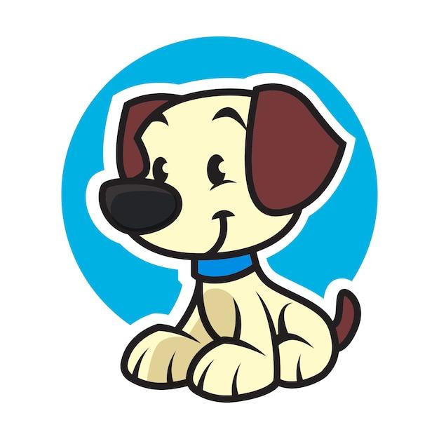 Mascote logotipo cão cuidados com os animais Vetor Premium