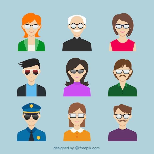 Masculino e feminino rosto avatars  Baixar vetores Premium -> Banheiro Masculino E Feminino Vetor Gratis