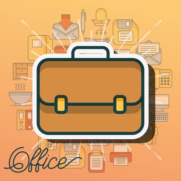 Material de escritório e pessoas Vetor Premium