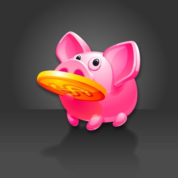 Mealheiro encontrado dinheiro Vetor Premium