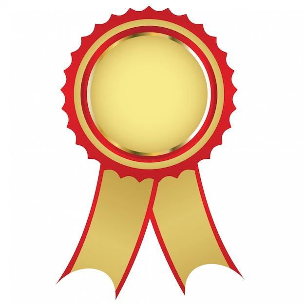 Medalha de ouro Vetor Premium