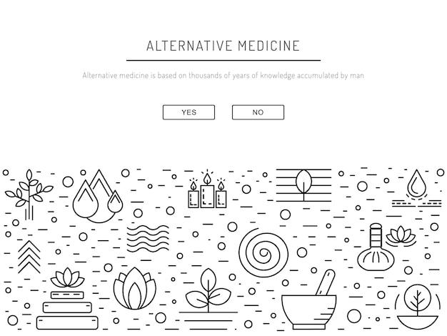 Medicina alternativa Vetor Premium