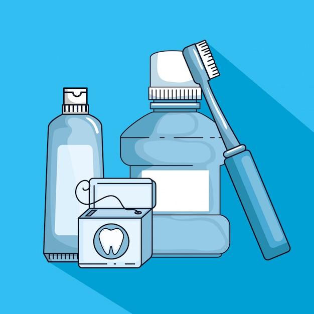 Medicina de higiene dental para tratamento de dentes Vetor grátis