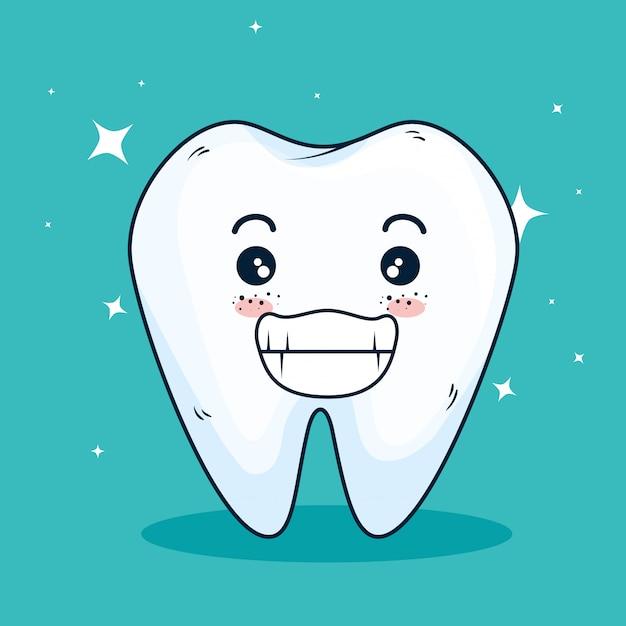 Medicina dentária limpa e cuidados dentários Vetor grátis