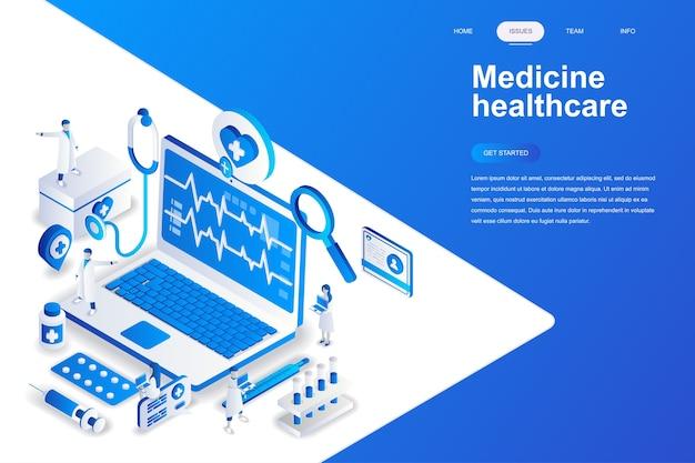 Medicina e design moderno plano de saúde Vetor Premium