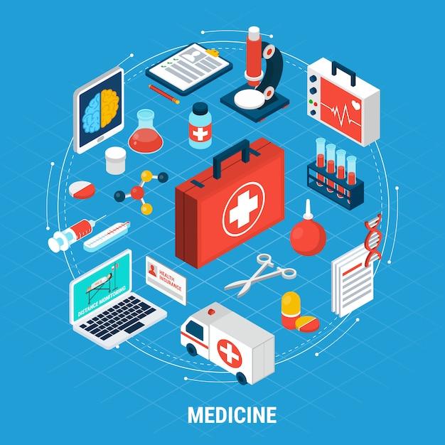 Medicina isométrica Vetor grátis
