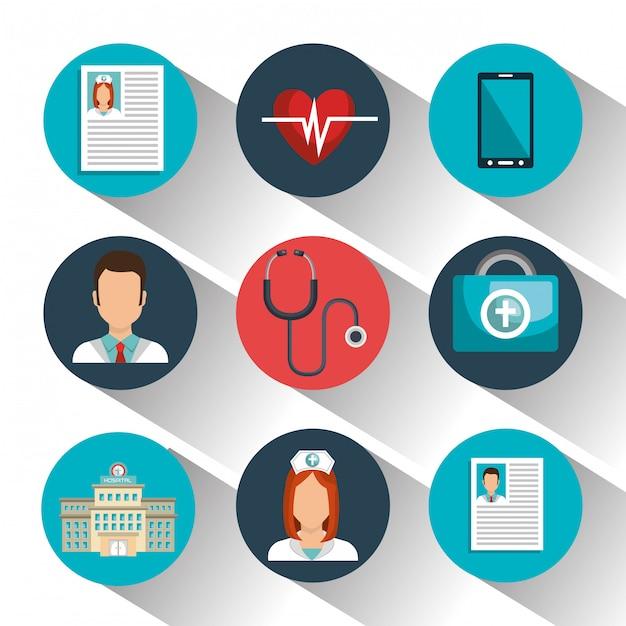 Medicina online Vetor grátis
