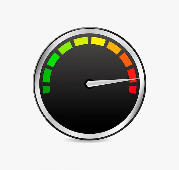 Medidor de medidor de velocidade Vetor Premium