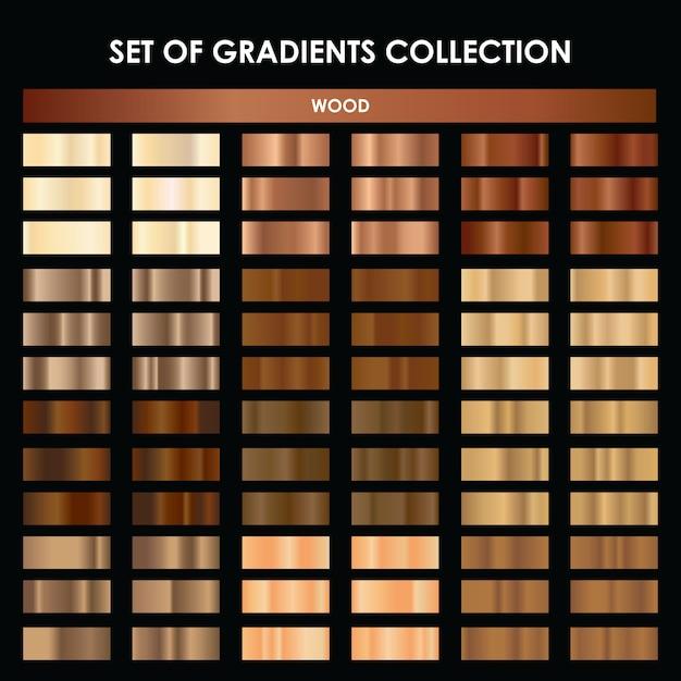 Mega coleção de gradiente de madeira Vetor Premium