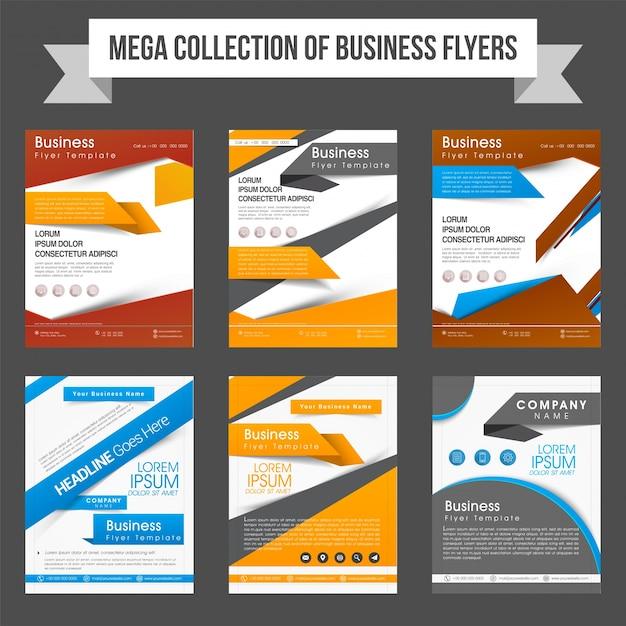 mega coleção de seis panfletos profissionais ou modelos de design