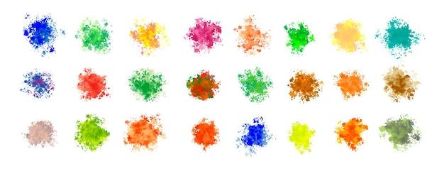 Mega conjunto de respingos de aquarela em várias cores Vetor grátis