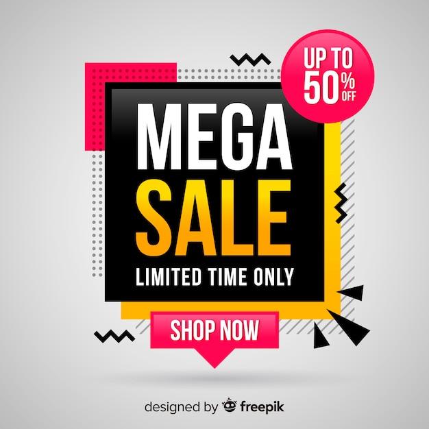 Mega sale background Vetor grátis
