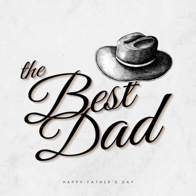 Melhor cartão de pai Vetor grátis
