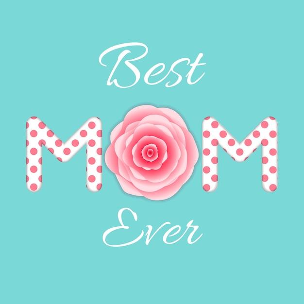Melhor mãe de todas. cartão de dia das mães. Vetor Premium