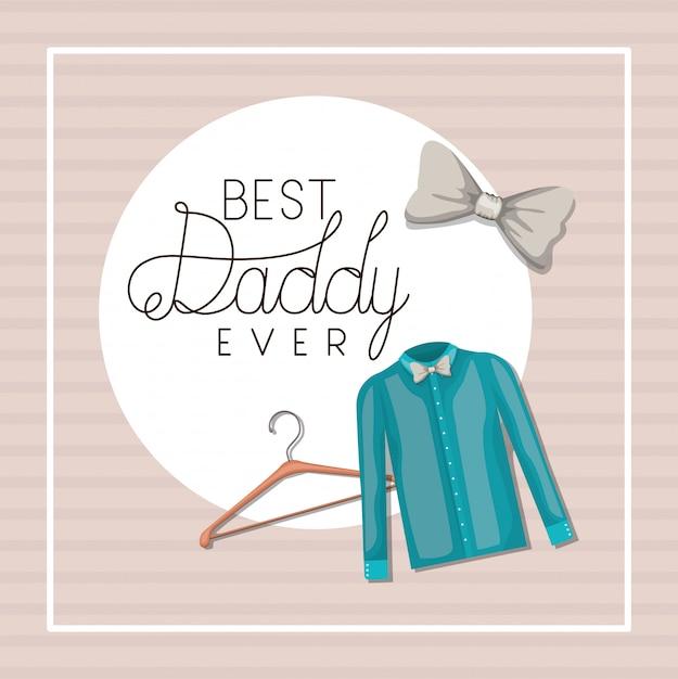 Melhor pai de sempre e design de tecidos Vetor Premium
