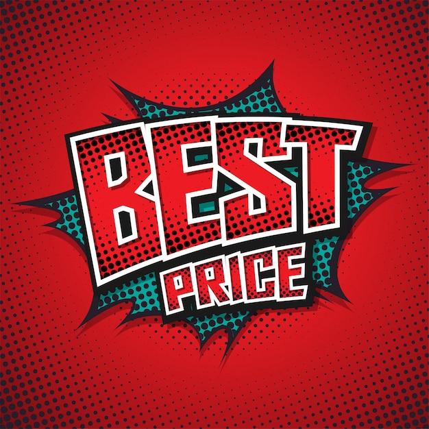 Melhor preço. bolha do discurso em quadrinhos. Vetor Premium