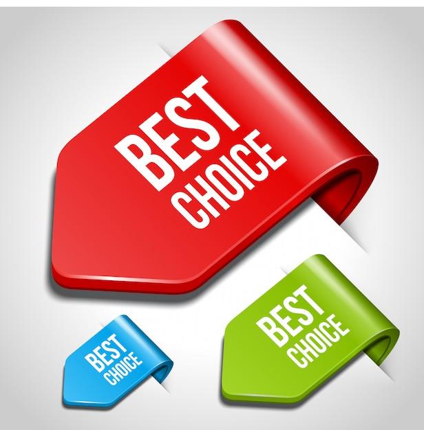 Melhores marcadores de escolha na ilustração da página Vetor Premium