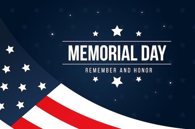 Memorial dia design plano lembrar a liberdade Vetor grátis
