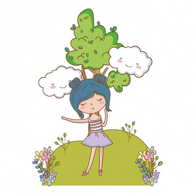 Menina adolescente de desenho animado Vetor grátis