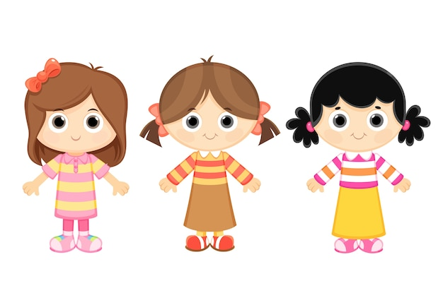 Meninas Dos Desenhos Animados