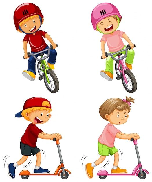 Meninos urbanos que montam a bicicleta e o