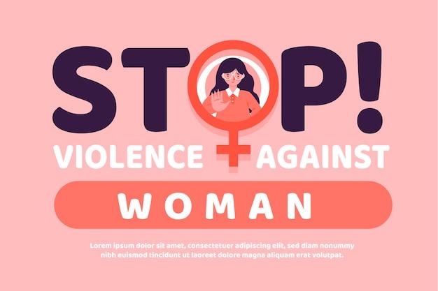 Mensagem de eliminação da violência contra as mulheres Vetor grátis