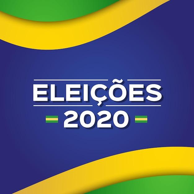 Mensagem eleições 2020 no brasil Vetor grátis